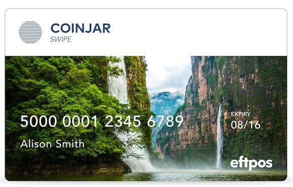CoinJar Swipe card